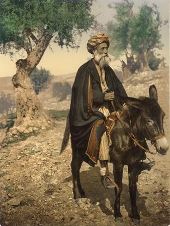 Arab Man from Bethlehem on His Donkey, C.1880-1900