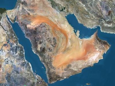 Arabian Peninsula, Satellite Image