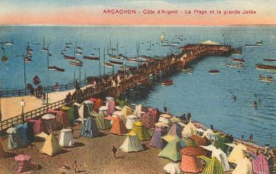 Aracachon, Pier and Beach, France