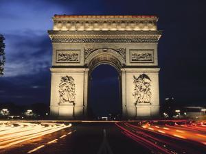 Arc De Triomphe at Night
