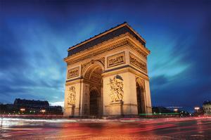 Arc De Triomphe Paris Sunset