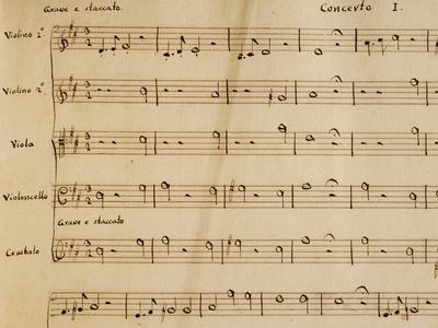 Music Score from Opera I
