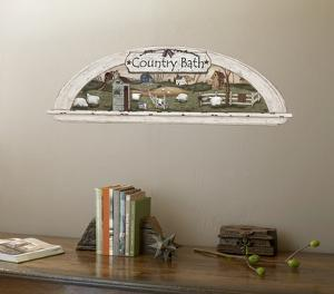 Arched Display Nook Country Bath Trompe L?Oiel Accent Wall Decal