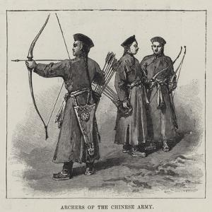 Archers of the Chinese Army