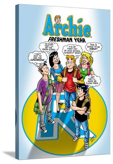 Archie Comics Cover: Archie No.587 Freshman Year-Bill Galvan-Stretched Canvas Print