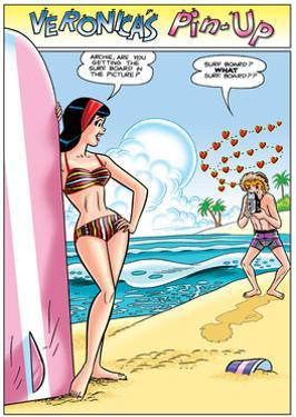 Archie Comics Pin-Up: Veronica And Archie At The Beach