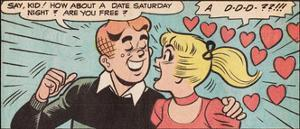 Archie Comics Retro: Archie and Betty Comic Panel; Date (Aged)