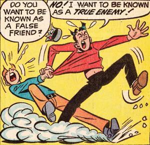 Archie Comics Retro: Archie and Jughead Comic Panel; False Friend (Aged)