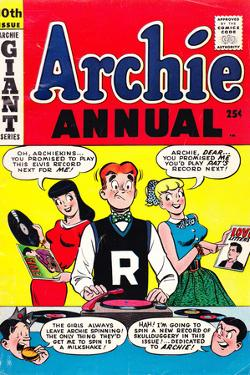 Archie Comics Retro: Archie Annual Comic Book Cover 10th Issue (Aged)