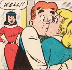 Archie Comics Retro: Archie Comic Panel; Archie, Betty and Veronica (Aged)