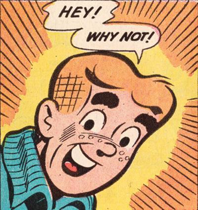 Archie Comics Retro: Archie Comic Panel; Hey! Why Not? (Aged)