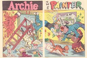 Archie Comics Retro: Archie Comic Spread Archie The Painter (Aged)