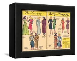 Archie Comics Retro: Be Lovely with Betty and Veronica Dress Patterns  (Aged)