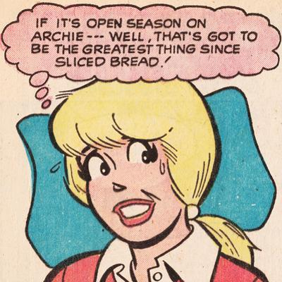Archie Comics Retro: Betty Comic Panel; Greatest Thing Since Sliced Bread (Aged)