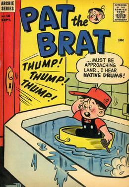 Archie Comics Retro: Pat the Brat Comic Book Cover No.16 (Aged)