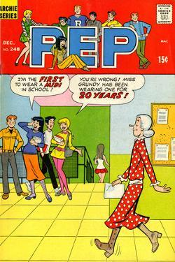 Archie Comics Retro: Pep Comic Book Cover No.248 (Aged)