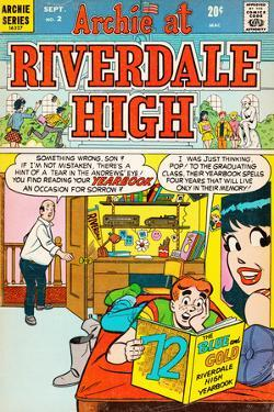 Archie Comics Retro: Riverdale High Comic Book Cover No.2 (Aged)