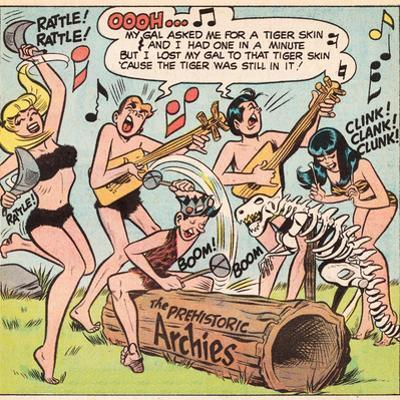 Archie Comics Retro: The Archies Comic Panel; The Prehistoric Archies (Aged)