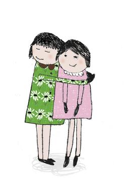 Sister Hug by Archie Stone