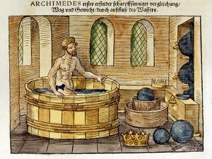 Archimedes in His Bath, 1547 by Archimedes Archimedes