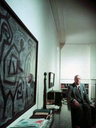Architect Mies Van Der Rohe at Home
