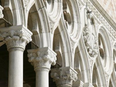 Architectural Detail of Arches and Columns on Basilica Exterior