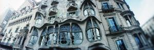 Architectural Detail of Building Built by the Catalan Architect Antoni Gaudi, Casa Batllo, Barce...