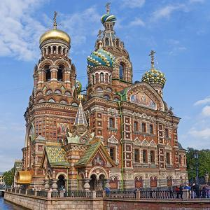 Architectural Details of a Church, Church of the Savior on Blood, St. Petersburg, Russia