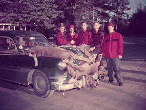 HUNTERS GATHER AROUND Car, DEAD DEER by Archive Holdings Inc.