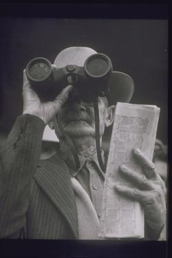 OLDER MAN AT RACE Track, 1950S by Archive Holdings Inc.