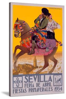 1934 Sevilla Fiesta Print by Archivea Arts