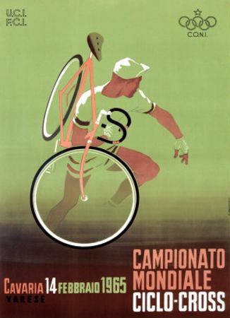 1965 Italian Bicycle Ciclo-Cross Poster by Archivea Arts