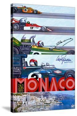 1973 Monaco Grand Prix F1 Race Poster by Archivea Arts