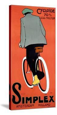 VINTAGE 1915 DUTCH SIMPLEX BICYCLE POSTER by Archivea Arts