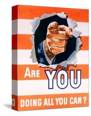 Are You Doing All You Can? World War II Poster