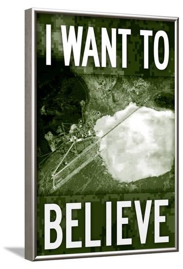 Area 51 I Want To Believe--Framed Poster