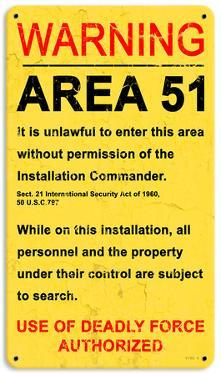 Area 51 Steel Sign