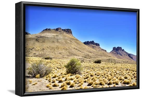 Argentina, Santa Cruz. Alero Charcamata (cave paintings site) and surroundings.-Michele Molinari-Framed Photographic Print