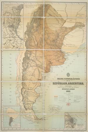 Argentina Posters At AllPosterscom - Argentina landmarks map