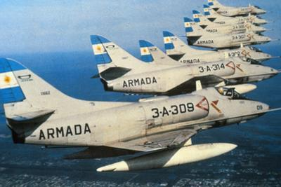 Argentine Super Etandard Planes in Flight 1982