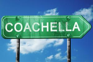 Coachella Road Sign , Worn and Damaged Look by argus456