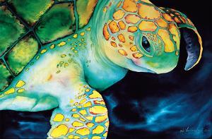Timeless Wisdom - Hawaiian Green Sea Turtle (Honu) by Ari Vanderschoot