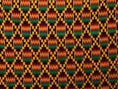 Detail of Hand-Woven Asante Ceremonial Cloth, Hohoe, Volta, Ghana