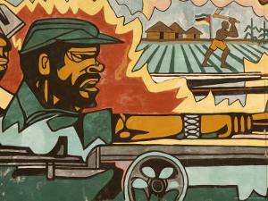 Detail of Mural Near Airport Depicting Civil War, Maputo, Mozambique by Ariadne Van Zandbergen