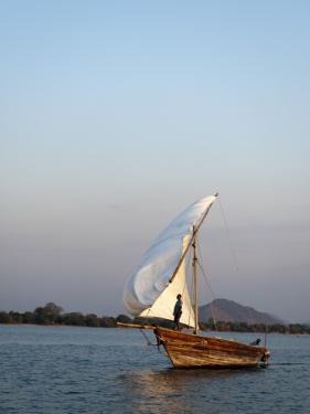 Dhow on Lake Malawi, Cape Maclear by Ariadne Van Zandbergen