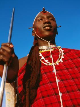 Ochre-Painted Maasai Moran, Longido, Arusha, Tanzania by Ariadne Van Zandbergen