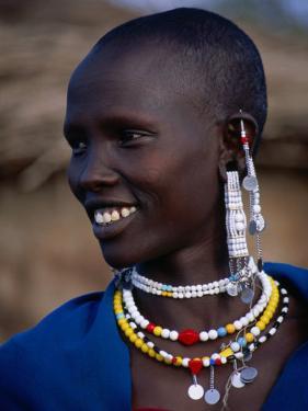 Portrait of a Maasai Woman, Lake Manyara National Park, Tanzania by Ariadne Van Zandbergen