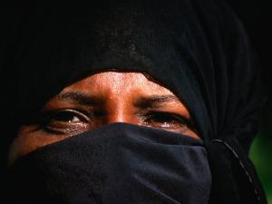 Portrait of a Muslim Woman in Traditional Bui-Bui, Lamu, Coast, Kenya by Ariadne Van Zandbergen