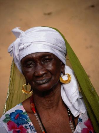 Portrait of Elderly Woman, Jufureh, North Bank, Gambia, The