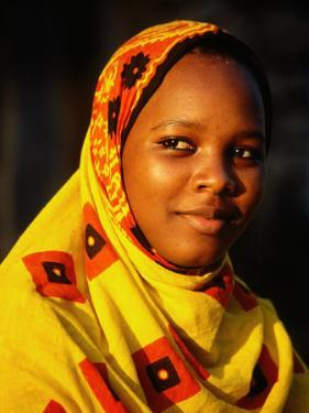 Portrait of Young Girl, Bagamoyo, Tanzania by Ariadne Van Zandbergen